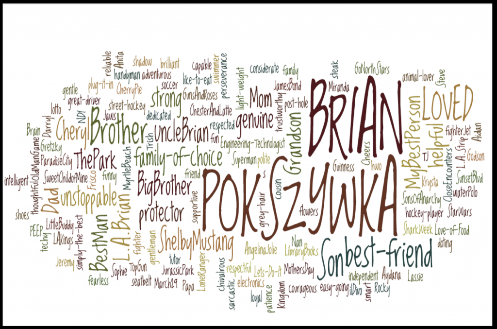 Word Cloud for Brian